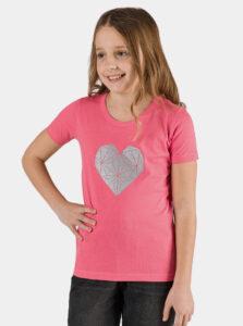 Ružové dievčenské tričko s potlačou SAM 73 Yuno