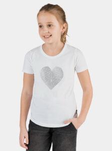 Biele dievčenské tričko s potlačou SAM 73 Yuno