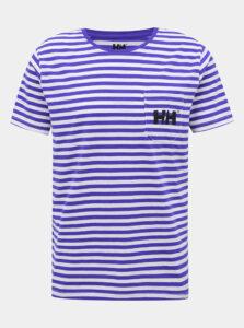 Bielo-modré pánske pruhované tričko HELLY HANSEN Fjord