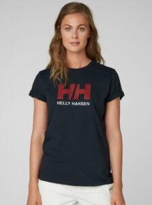 Tmavomodré dámske tričko s potlačou HELLY HANSEN Logo