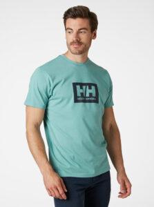 Tyrkysové pánske tričko s potlačou HELLY HANSEN Tokyo