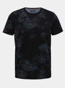 Čierne kvetované tričko Jack & Jones Caleb