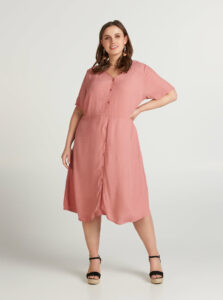 Ružové vzorované šaty Zizzi Idafur