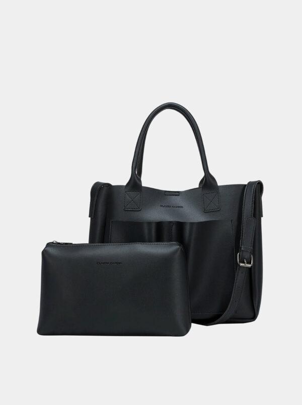 Čierna kabelka s odnímateľným púzdrom Claudia Canova Megan