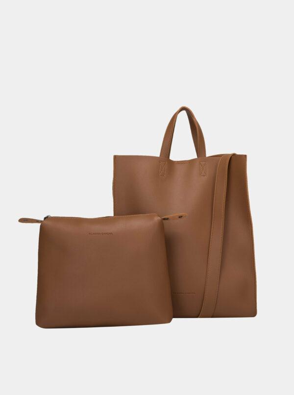 Hnedá kabelka s odnímateľným púzdrom Claudia Canova Retta