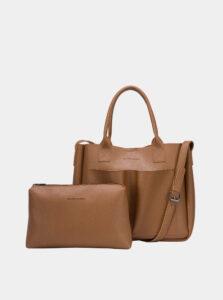 Hnedá kabelka s odnímateľným púzdrom Claudia Canova Megan