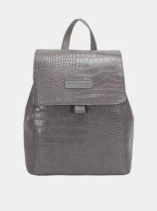 Šedý batoh s krokodýlím vzorom Claudia Canova Beth