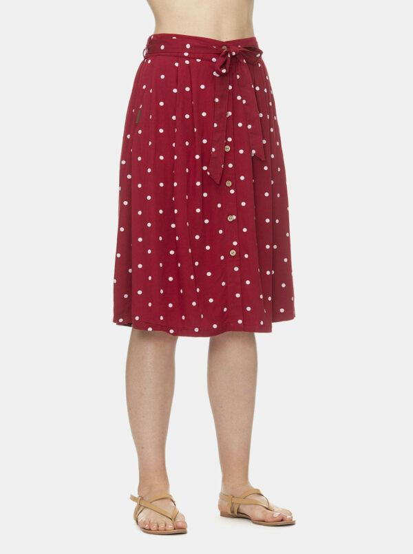 Červená bodkovaná sukňa Ragwear Lejla Dots