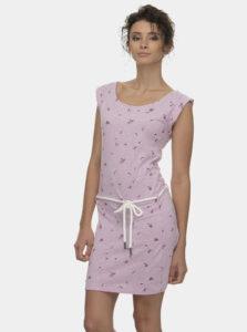 Ružové kvetované šaty Ragwear Tamy