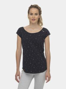 Tmavomodré dámske vzorované tričko Ragwear Rosanna