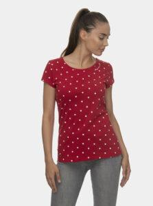 Červené dámske bodkované tričko Ragwear Mint Dots