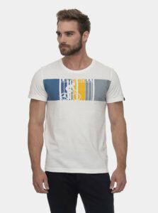 Biele pánske tričko s potlačou Ragwear Blaize