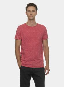 Červené pánske pruhované tričko Ragwear Steef