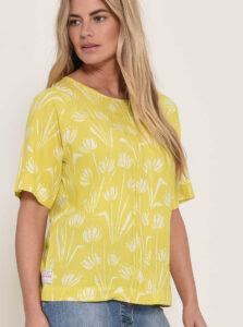 Žltá kvetovaná blúzka Brakeburn