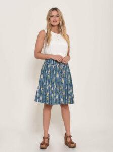 Modrá vzorovaná sukňa Brakeburn