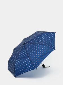 Tmavomodrý bodkovaný dáždnik Rainy Days