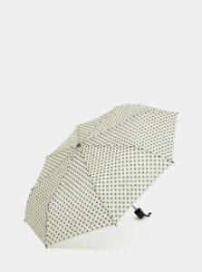 Krémový bodkovaný dáždnik Rainy Days