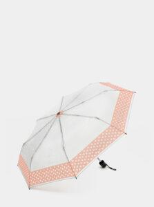 Svetlošedý bodkovaný dáždnik Rainy Days
