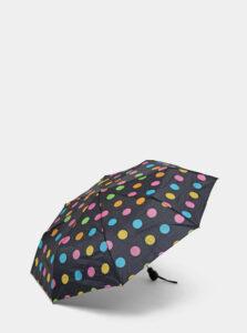Čierny bodkovaný vystreľovací dáždnik Rainy Days