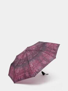 Fialový vystreľovací dáždnik s hadím vzorom Rainy Days