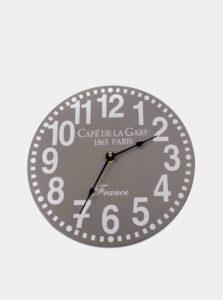 Šedé nástenné hodiny Dakls