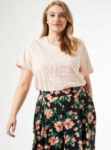 Ružové tričko Dorothy Perkins Curve