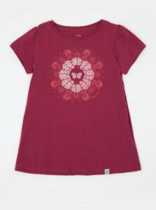 Tmavoružové dievčenské tričko s potlačou Hannah Poppy