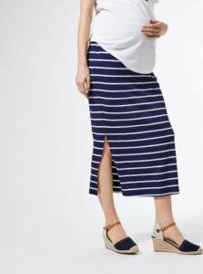 Modrá pruhovaná tehotenská maxi sukňa Dorothy Perkins Maternity