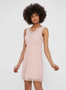 Ružové šaty s krajkou VERO MODA Pernilla