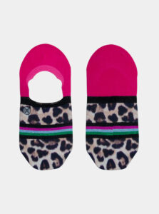 Čierno-ružové dámske nízke ponožky XPOOOS