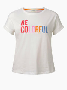 Biele dámske tričko My True Me Tom Tailor