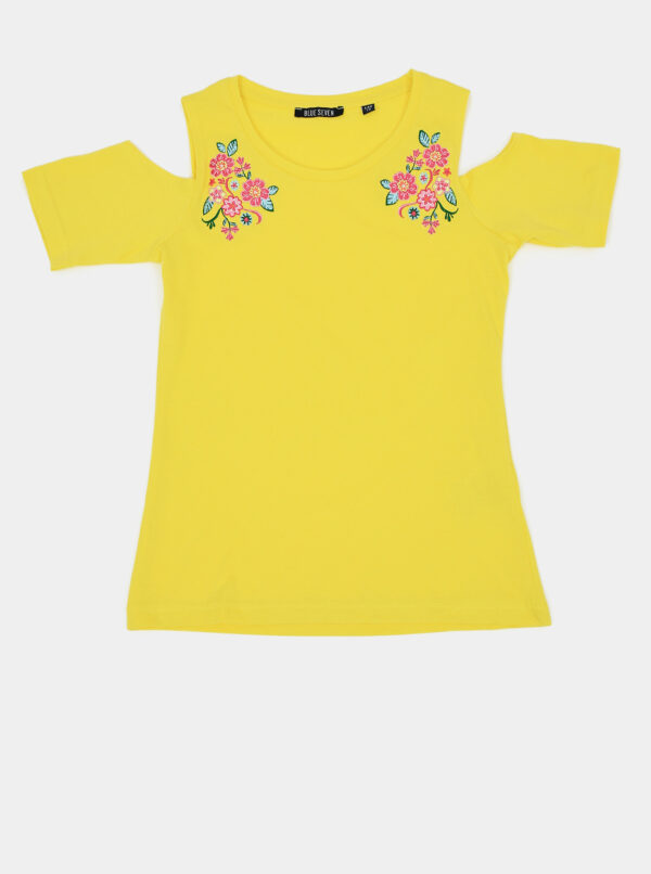 Žlté dievčenské tričko Blue Seven