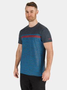 Tmavomodré pánske pruhované tričko SAM 73