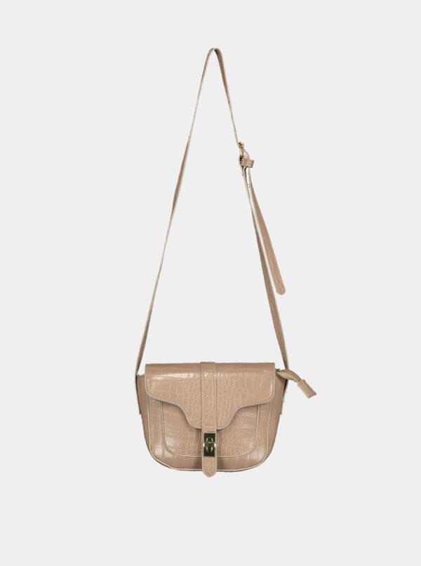 Béžová crossbody kabelka s krokodýlím vzorom Haily´s Elisa