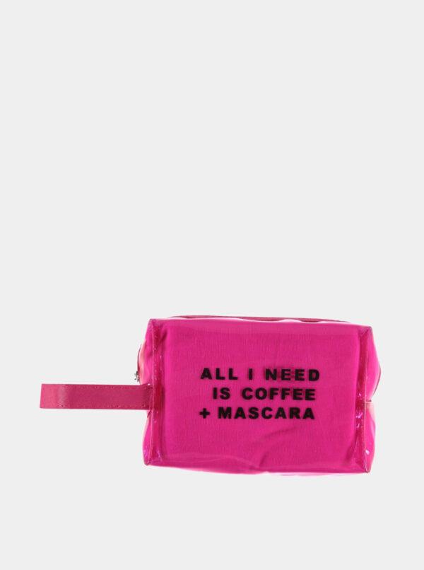 Ružová kozmetická taštička Haily´s Coffee and Mascara