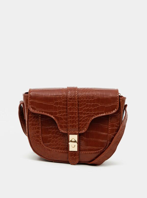 Hnedá crossbody kabelka s krokodýlím vzorom Haily´s Elisa