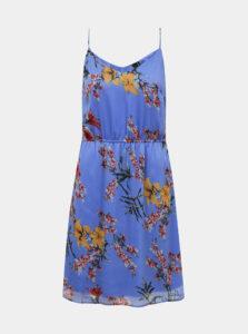 Modré kvetované šaty VERO MODA
