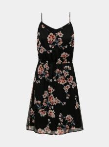Čierne kvetované šaty VERO MODA