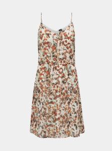 Hnedo-krémové vzorované šaty VERO MODA