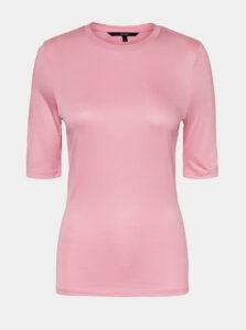 Ružové basic tričko VERO MODA Mette