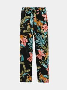 Čierne kvetované nohavice ONLY