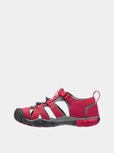 Červené detské sandále Keen Seacamp II CNX K