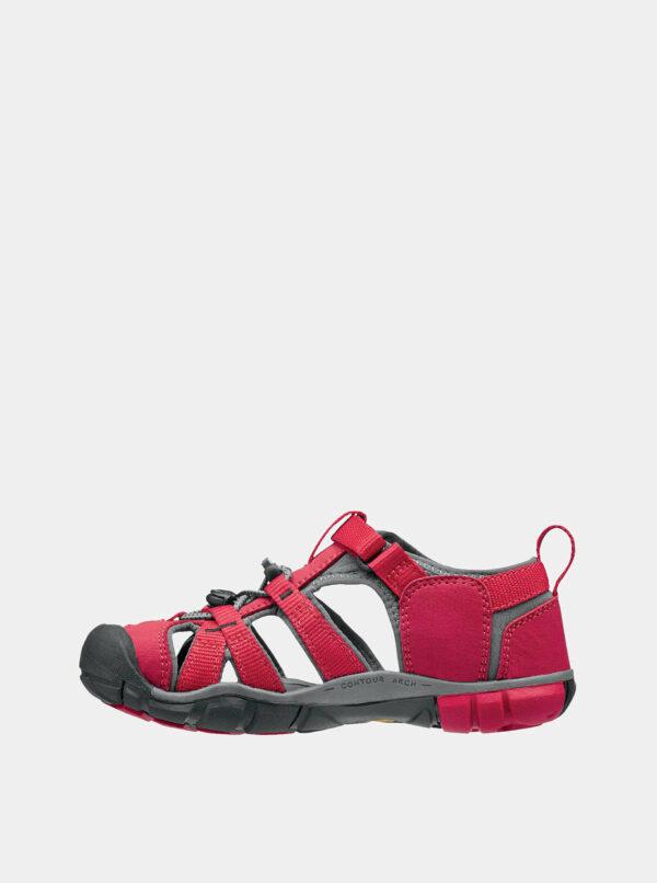 Červené detské sandále Keen Seacamp II CNX Jr