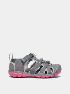 Ružovo-šedé dievčenské sandále Keen Seacamp II CNX C