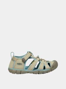 Béžové detské sandále Keen Seacamp II CNX C