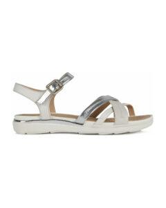 Geox Hiver Sandále Biela Strieborná