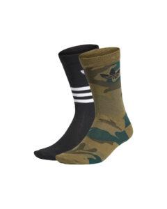 adidas Originals Trefoil Ponožky 2 páry Čierna Zelená
