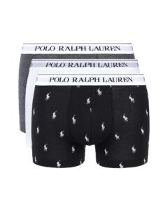 Polo Ralph Lauren Boxerky 3 ks Čierna Biela Šedá