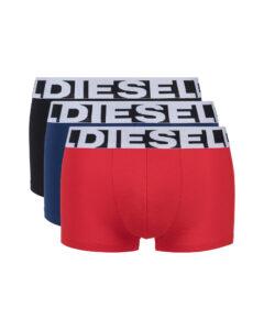 Diesel Boxerky 3 ks Čierna Modrá Červená