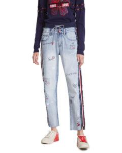 Desigual Jeans Modrá